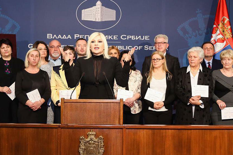 Reception at the Government of Serbia to mark International Women's Day